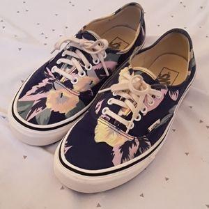Vans Navy Blue Floral Sneaker